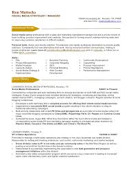 Sample Marketing Resumes by Social Media Marketing Resume