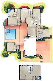 house plans with courtyard pools four bedroom courtyard floorplan plans i