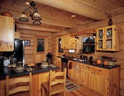 Log Cabin Kitchen Ideas Endearing Kitchen 10 Rustic Designs With Unfinished Pine Cabinets