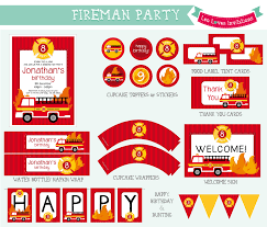 fireman party invitations free printable awesome neabux