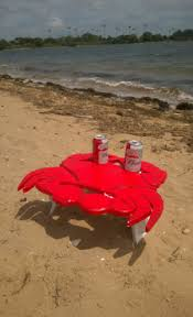 how to make a crab shaped beach folding table