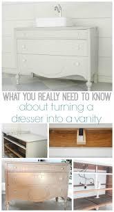 Dresser Turned Bathroom Vanity How To Make A Dresser Into A Bathroom Vanity The Nitty Gritty