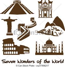 vector clip art of seven wonders of the world csp17906217 search