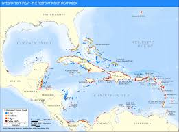 Caribbean Maps by Integrated Threat The Reefs At Risk Threat Index World