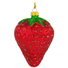 large strawberry glass ornament bronner s
