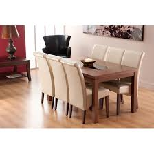Ivory Dining Room Chairs Marvelous Walnut Dining Table And 6 Chairs 46 About Remodel Dining