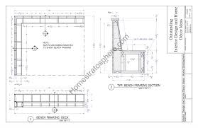 Plans To Build A Storage Bench by Deck Plan With Built In Benches For Seating And Storage