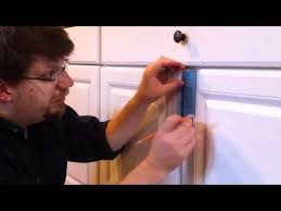 How To Install Knobs On Kitchen Cabinets Install Cabinet Door Knobs Youtube