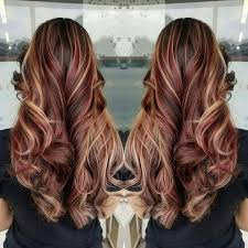 blonde and burgundy hairstyles red hair brown hair blonde highlights burgundy hair color fall