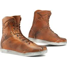 brown motorcycle shoes tcx x rap retro motorcycle boots breathable urban leather ankle