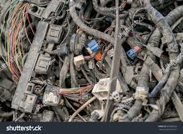 nonworking pile old electrical wires dusty nonworking stock photo 607868558