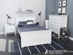 King Single Bed Frame Kids Beds White BC Furniture - Bedroom furniture in melbourne