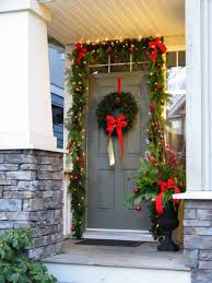 christmas decorating front door entrance way christmas