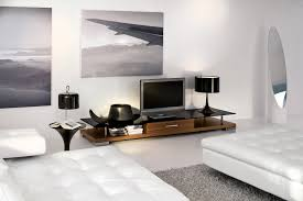 Unit Interior Design Ideas by Super White Wall And Furniture With Tufted Bed And Lowest Coffee