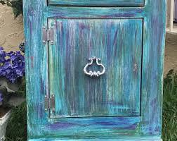 blue nightstand etsy