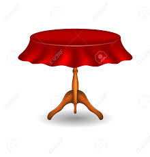Wooden Table Png Wooden Round Table With Tablecloth Royalty Free Cliparts Vectors