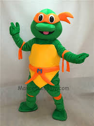 Michelangelo Ninja Turtle Halloween Costume Orange Tmnt Teenage Mutant Ninja Turtle Mascot Costume