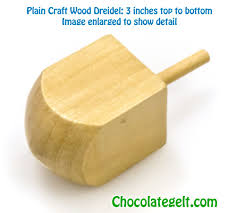 large dreidel wood dreidel craft each