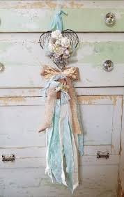 shabby cottage home decor floral heart wall decor wall art door wreath nursery decor shabby