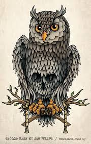 cute grey owl tattoo in 2017 real photo pictures images and