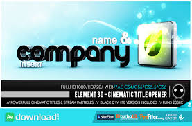 videohive element 3d cinematic titles opener free download