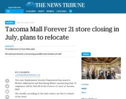forever 21 tacoma mall forever 21 store closing in july plans