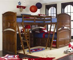 Bed Bunk Bed Callum Platform Bunk Bed All Beds Restoration - Triple lindy bunk beds