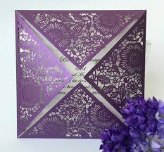 Lavender Wedding Invitations 2016 Wedding Invitation Purple Wedding Invitation Cards Lace
