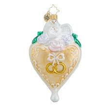 Personalized Wedding Christmas Ornaments Christopher Radko Ornaments Radko Tie That Binds Bridal Wedding