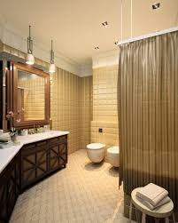 classic small bathroom design ideas equipped teak wooden cabinet
