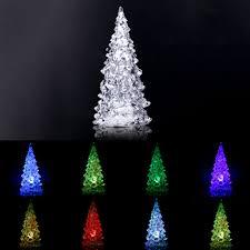 led color change light crystal christmas tree table lamp decor