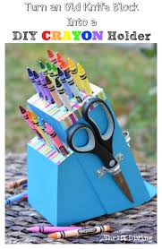 Upcycling Crafts For Adults - turn a knife block into a diy craft holder knife block ideas