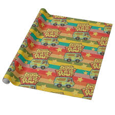 scooby doo wrapping paper scooby doo where are you retro wrapping paper