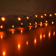 Mini Outdoor Lights Orange Led Mini Battery Operated String Lights
