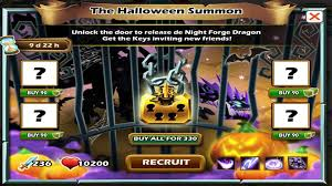 social empires the halloween summon night forge dragon youtube