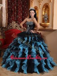 dresses for sweet 15 blue and black sweetheart sweet 15 dresses with beading ruffles