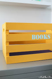 Book Storage Kids Diy Book Storage Crate The Inspired Hive