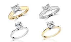 groupon engagement ring 1 carat solitaire ring groupon goods