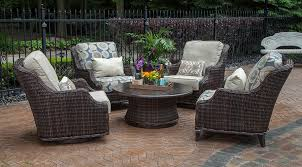 Swivel Wicker Patio Chairs by Mila Collection All Weather Wicker Patio Furniture Deep Seating
