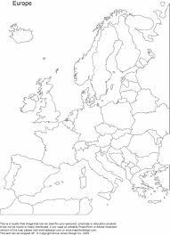 Europe Outline Map by Europe Map Printable Printable Maps Of Europe Geography Blog Blank