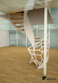 spiral staircase wooden steps metal frame wooden frame
