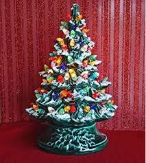 ceramic christmas tree with lights ceramic christmas tree 19 inches with base