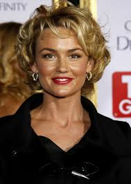 short haircut curly hair style and color for woman
