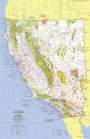 up usa california and nevada map