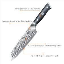 Professional Kitchen Knives Shan Zu Santoku Knife 7 Inches Professional Chef Knife Vg10