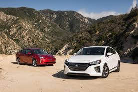 compact cars vs economy cars 2017 hyundai ioniq hybrid vs 2017 toyota prius who u0027s the king of