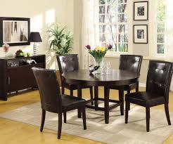 Round Dining Room Sets For 6 by Modus Bossa 6 Piece Round Dining Room Set In Dark Homelegance