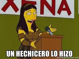 Simpsons Meme Generator - un hechicero lo hizo lucy xena simpsons wizard meme generator