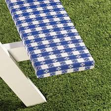 picnic table cover set deluxe picnic table cover 3pc set blue wipe clean tablecloths
