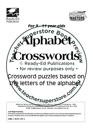 alphabet crosswords by teacher superstore issuu